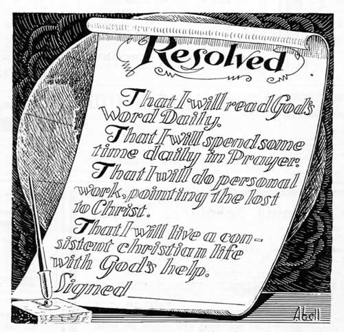 Resolved To Read The Word Of God